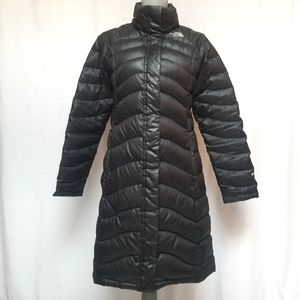 North Face Goose Down Long Puffer Black 600 S